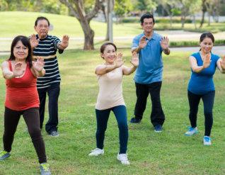 senior doing exercise
